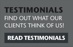 read testimonials! find out what our clients think of us!